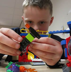 Young Brick Builders with Lego creations